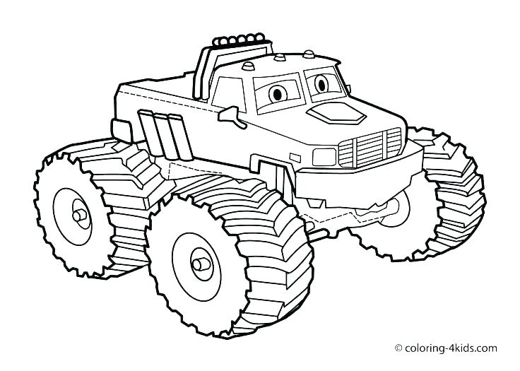 736x525 Coloring Pages Of Cars And Trucks Monster Truck Coloring Pages
