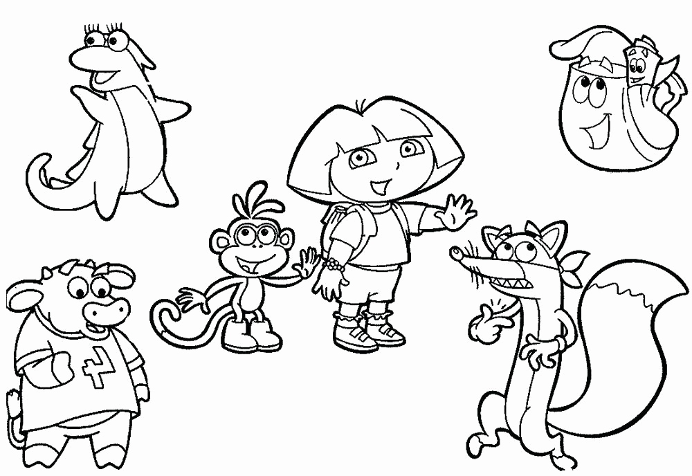 Free Friendship Coloring Pages