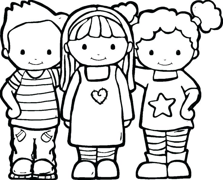 736x594 Friendship Coloring Pages Friendship Coloring Pages Friendship
