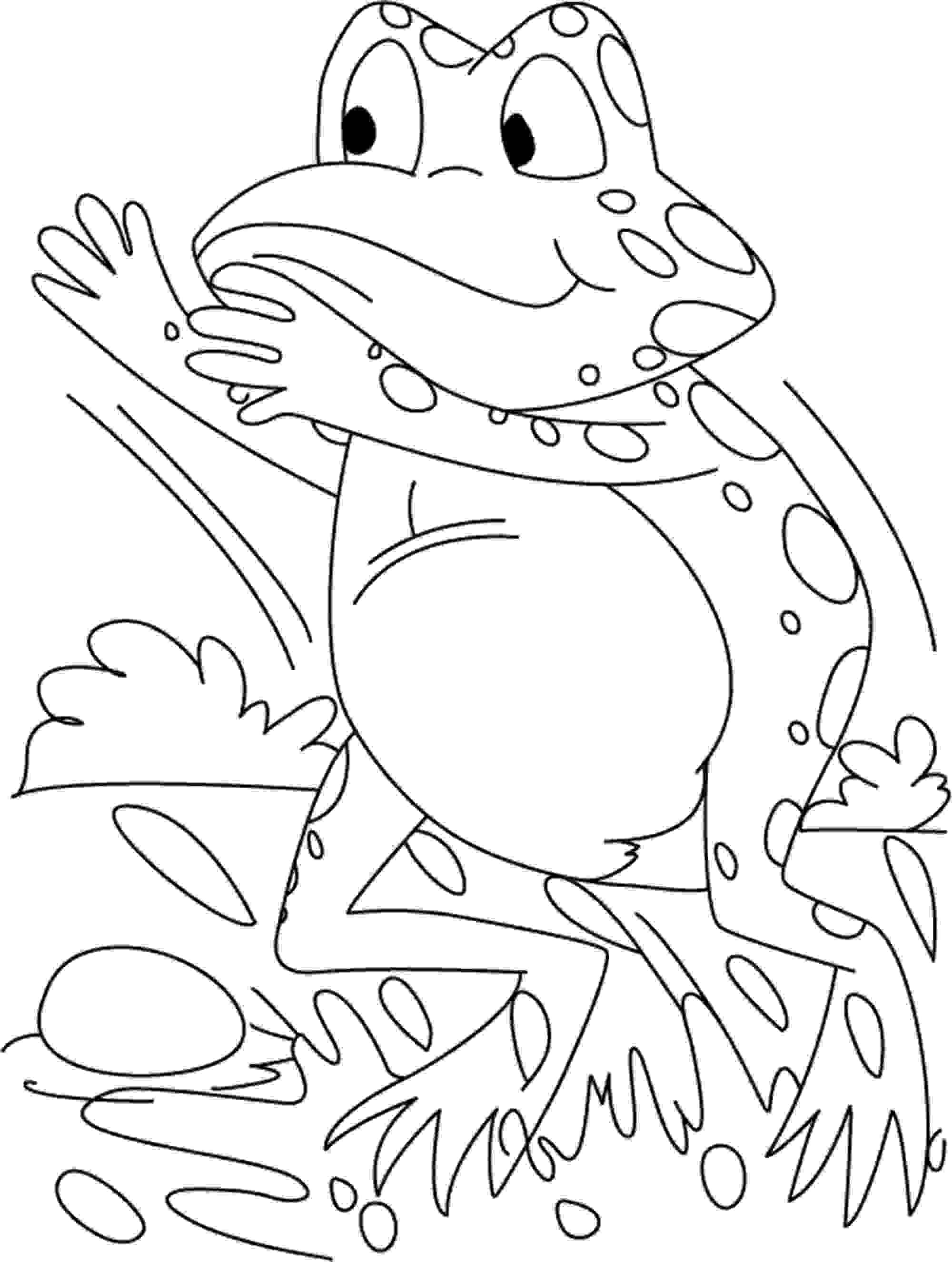 Free Frog Coloring Pages At Getdrawings Com Free For Personal Use