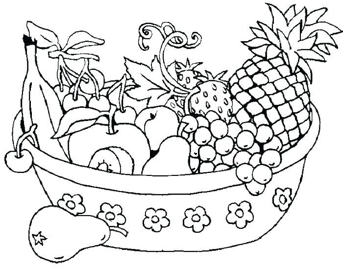700x551 Fruit Coloring Sheets Fruit Basket Coloring Pages Printable Fruit