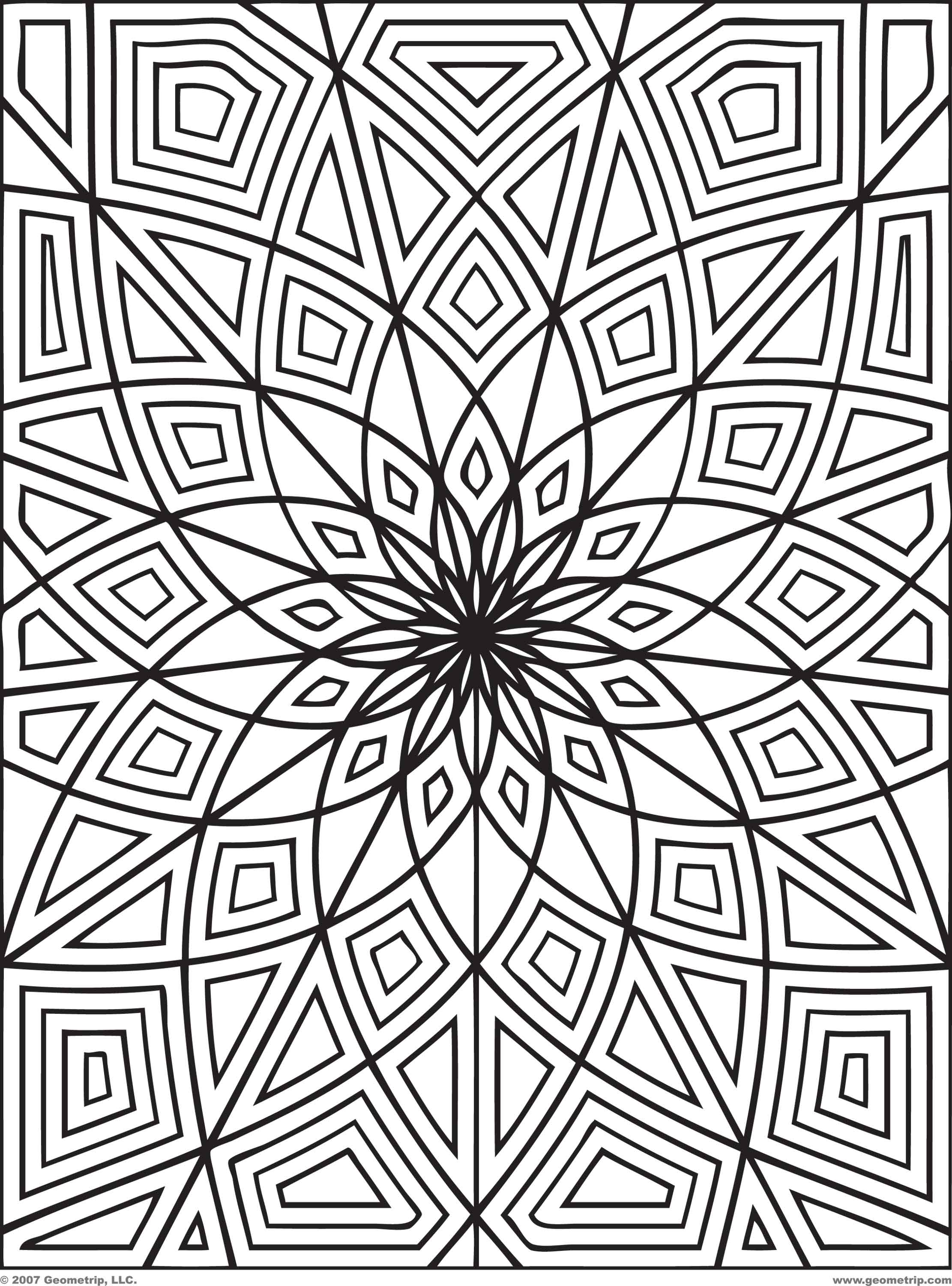 Free Full Page Coloring Pages