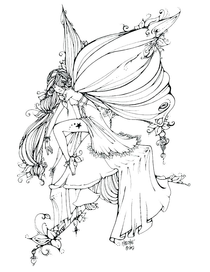 736x955 Full Size Coloring Pages Fairy Coloring Pages For Kids Free