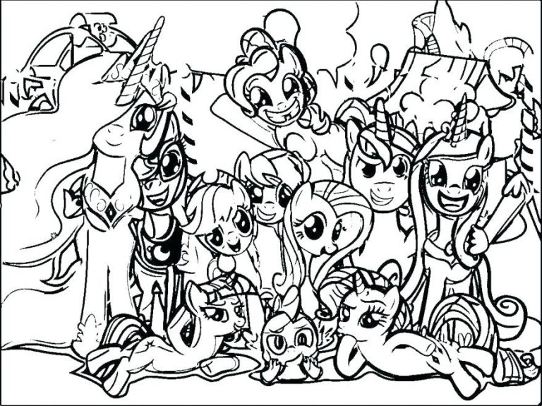 768x575 Little Pony Coloring Pages Free Copy My Book Plus Full Size