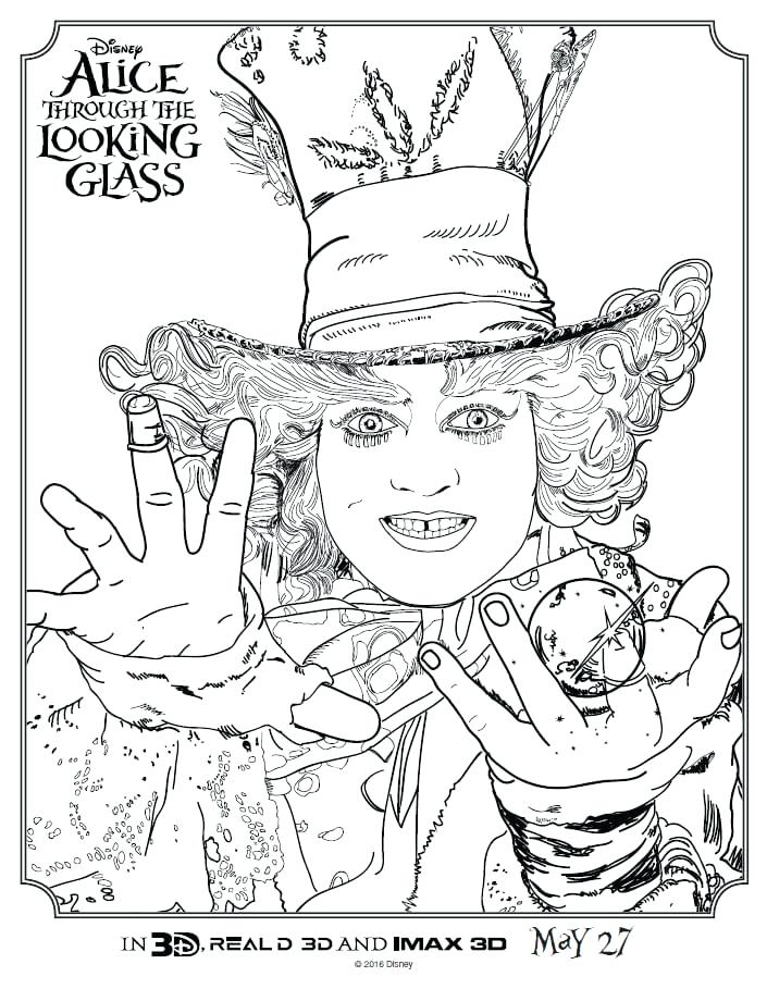 705x909 Mad Hatter Coloring Pages Free In Wonderland Coloring Pages Book I