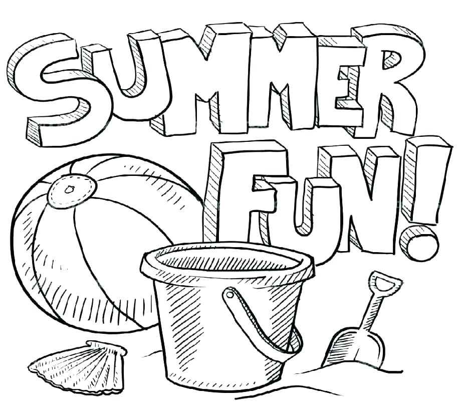 936x816 Summer Coloring Pages Printable