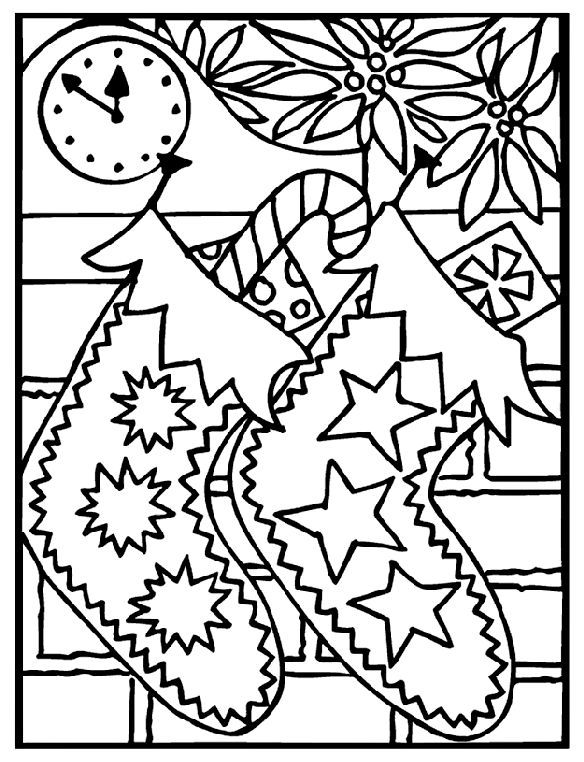 584x762 Free Fun Christmas Coloring Pages