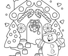 220x180 Fun Christmas Coloring Pages