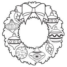236x236 Ornament Wreath Coloring Page
