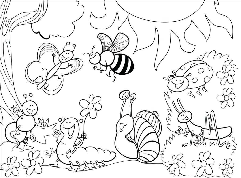 1024x758 Garden Coloring Pages Coloring Pages For Kids Man Takes Care