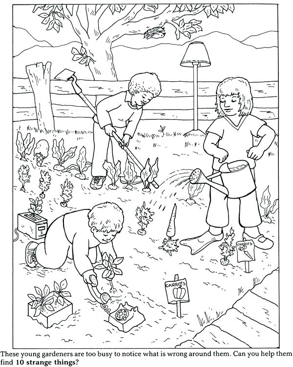 600x750 Garden Coloring Pages Garden Coloring Pages Garden Coloring Page