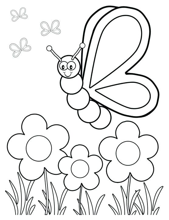 556x720 Spring Printable Coloring Pages Spring Flower In Garden Coloring