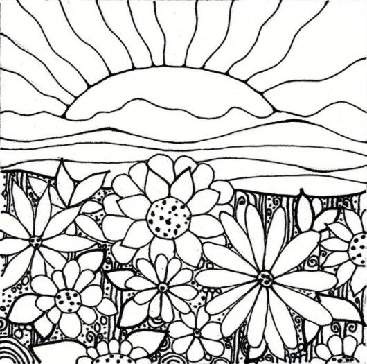 530x525 Plant Coloring Pages Flower Garden Coloring Pages Printable