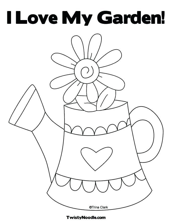 685x886 Flower Garden Coloring Page Flower Garden Coloring Page Garden