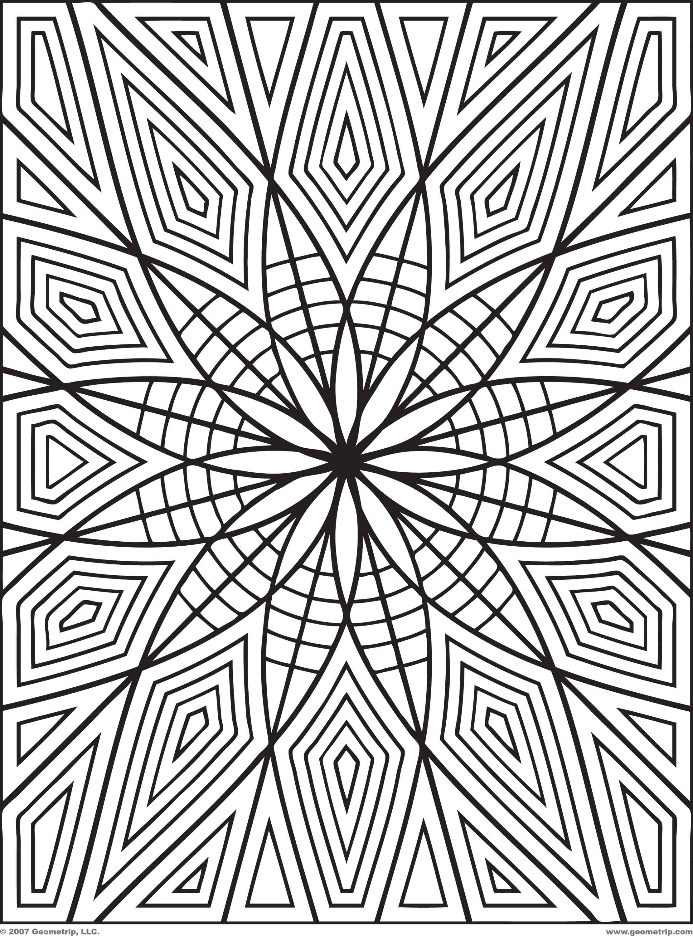 Free Geometric Coloring Pages at GetDrawings.com | Free for ...