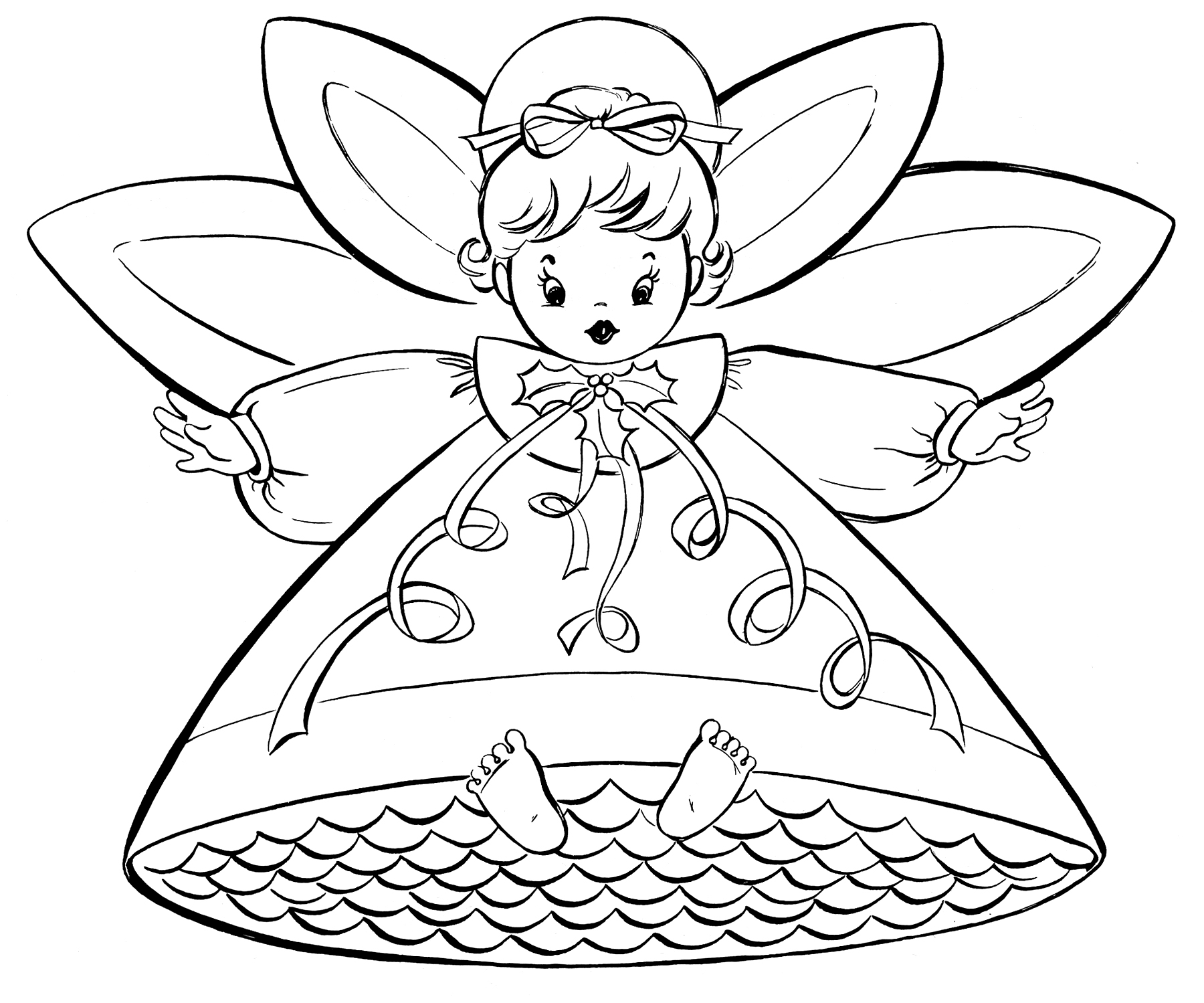 1800x1499 Free Christmas Coloring Pages