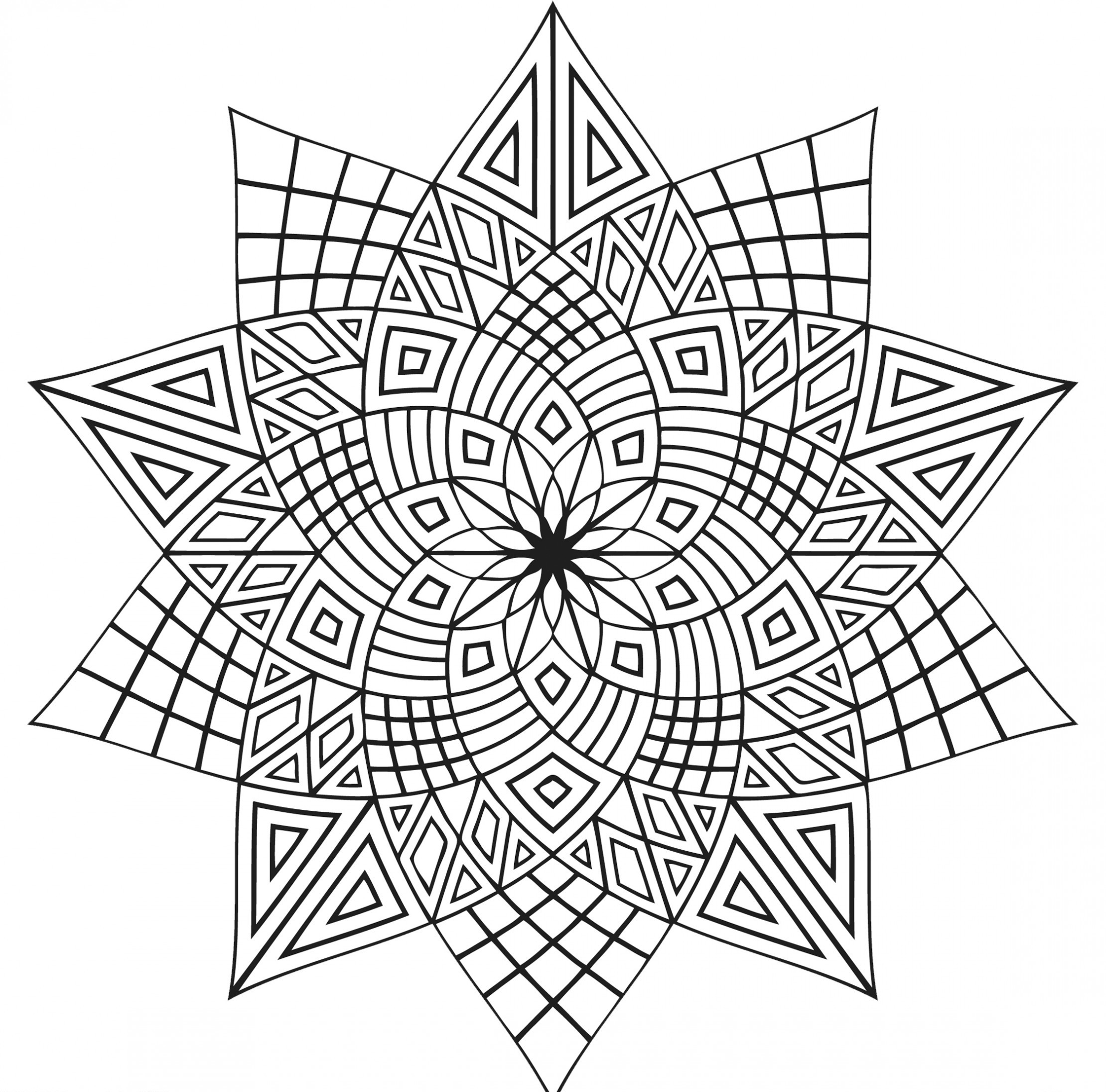 2220x2191 Kaleidoscope Coloring Pages Free Designs Allmadecine Weddings