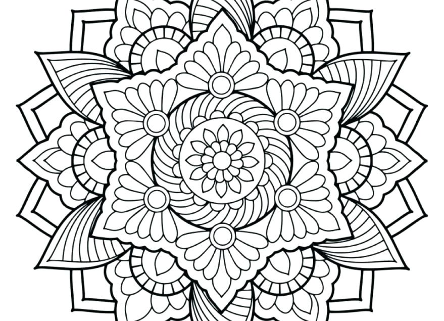 879x635 Coloring Pages Online Free Graphic Abstract Coloring Page