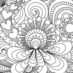 300x300 Easy Adult Coloring Pages