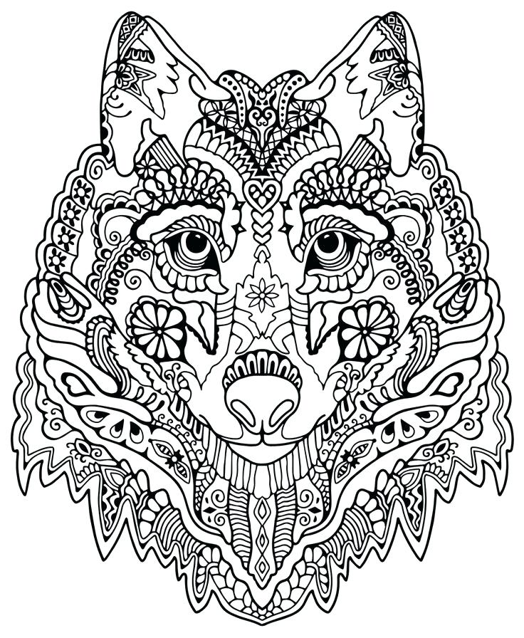 736x896 Free Coloring Pages For Adults With Dementia Pattern Animal