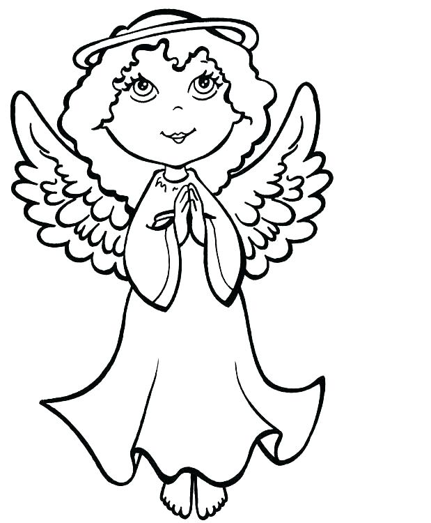 Free Guardian Angel Coloring Pages