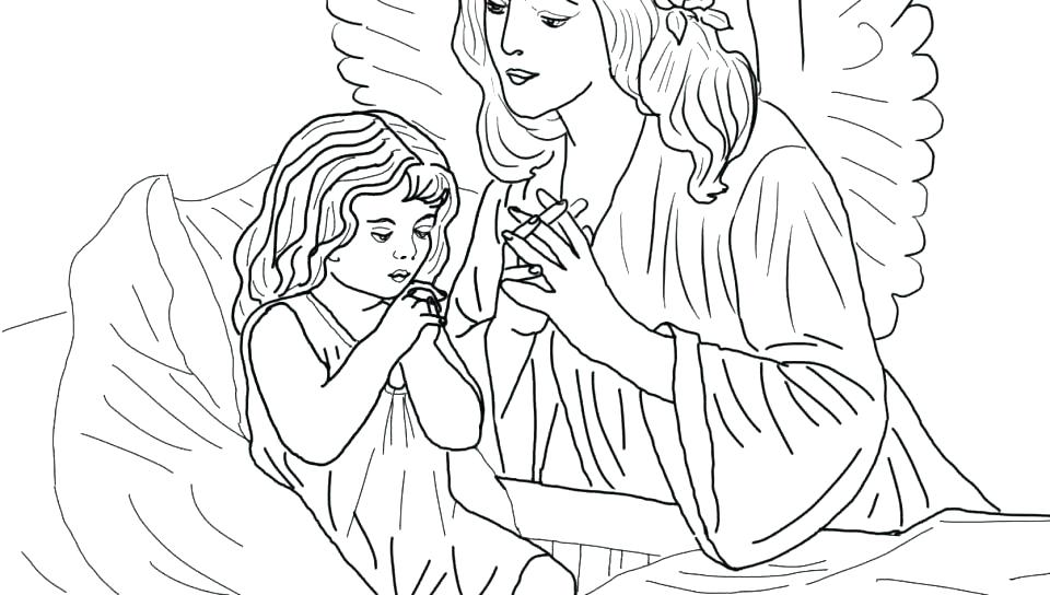 960x544 Guardian Angel Coloring Pages Guardian Angel Coloring Page Prayer
