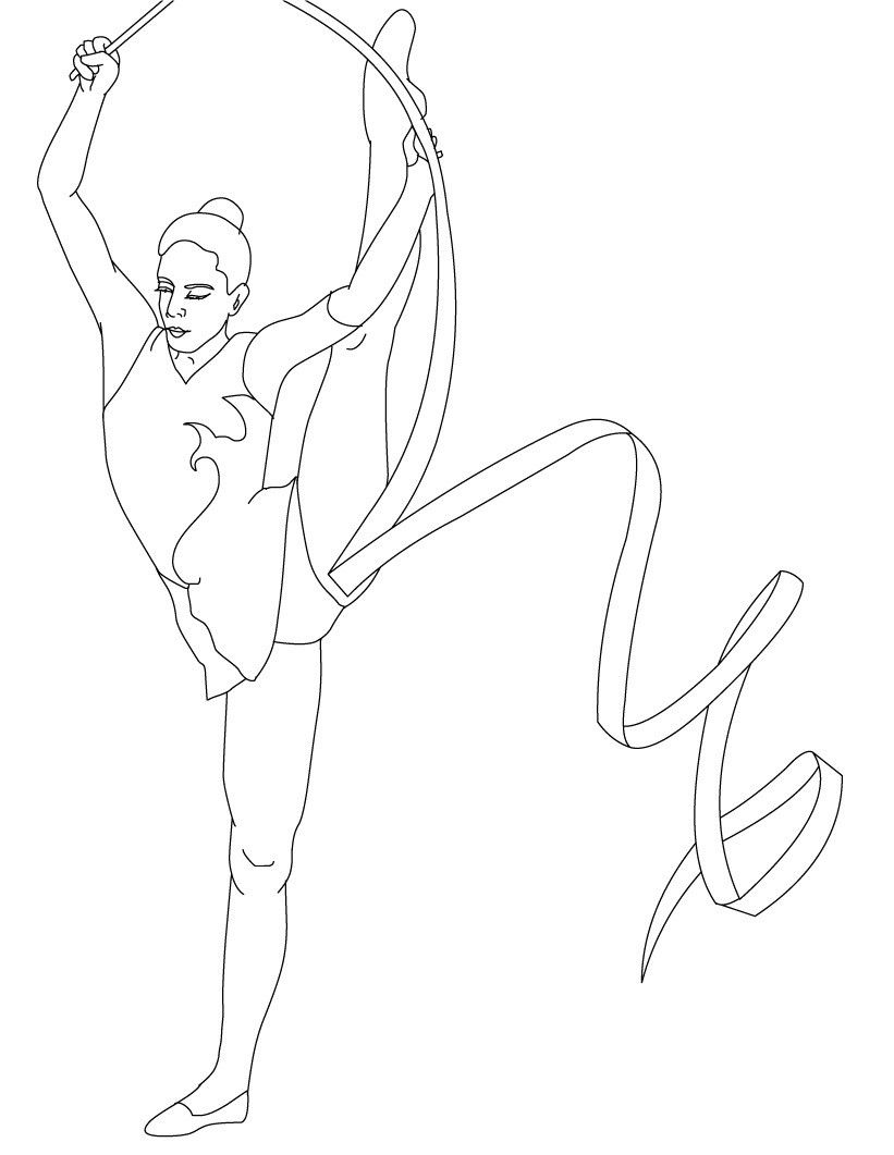 821x1061 Free Printable Gymnastics Coloring Pages For Kids Bright Pictures