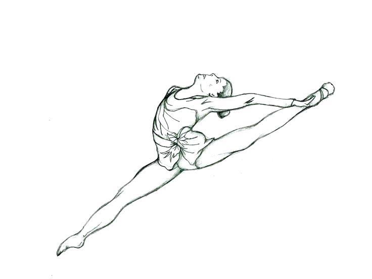 736x552 Gymnast Coloring Pages Gymnastics Coloring Book Girl Gymnastics