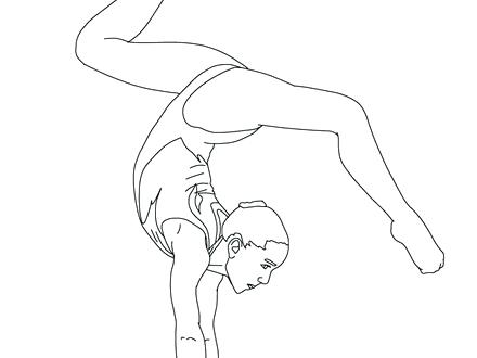 440x330 Gymnastic Coloring Pages Free Coloring Pages Of Kids Gymnastics