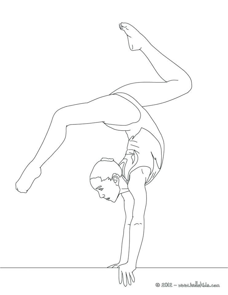 742x960 Gymnastics Coloring Page Free Gymnastics Coloring Pages Preschool