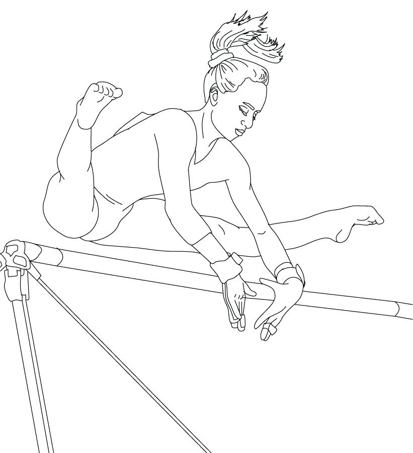 821x900 Gymnastics Coloring Page Free Gymnastics Coloring Pages Sport