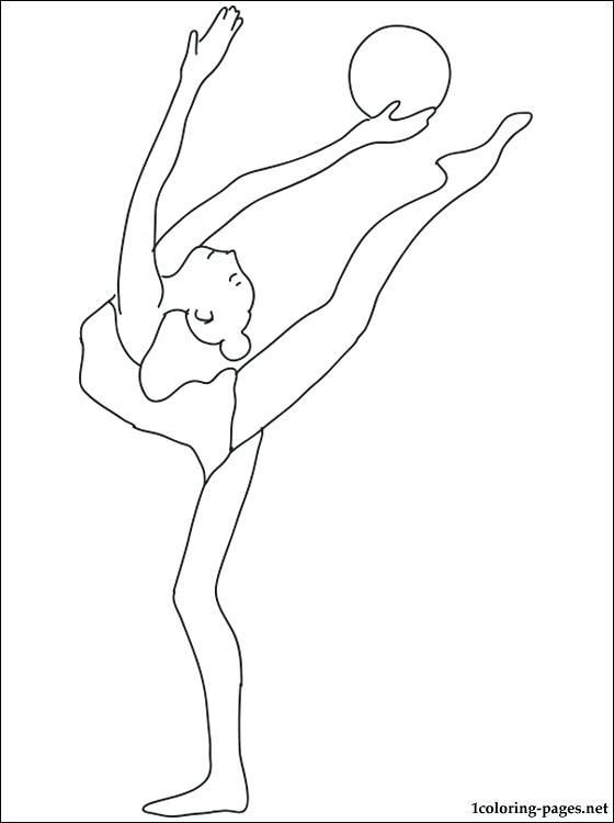 560x750 Gymnastics Coloring Page
