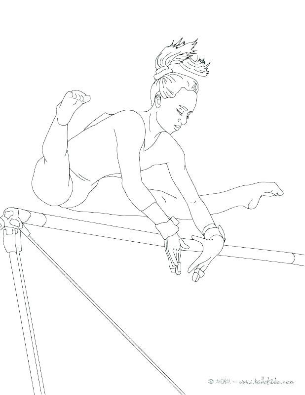 618x799 Gymnastics Coloring Pages Gymnastics Ring Page Sheets Gymnastic
