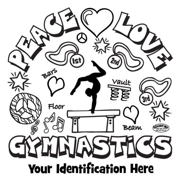 728x728 I Love Gymnastics Coloring Pages