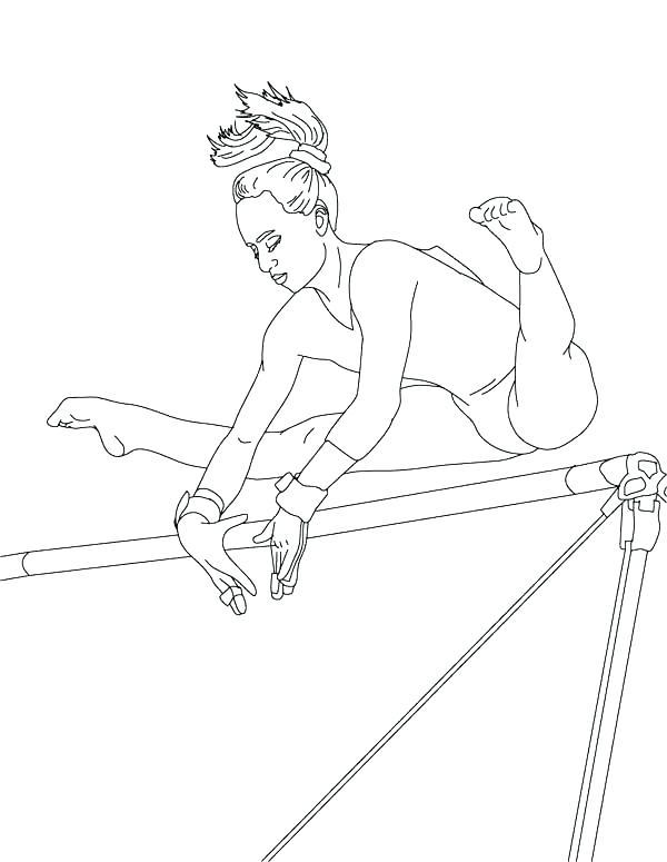 600x775 Printable Gymnastics Coloring Pages Sport Gymnastics Coloring