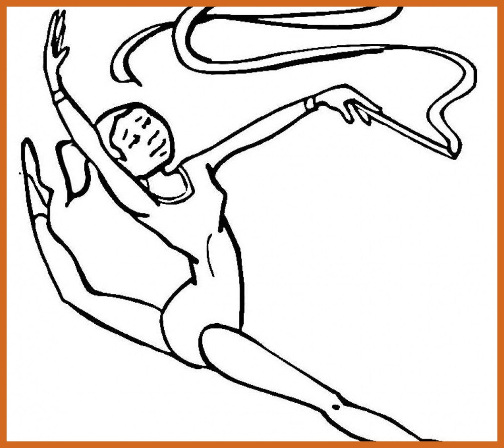 1000x890 Unbelievable Gymnastic Coloring Pages Printable Sport Adult Pic