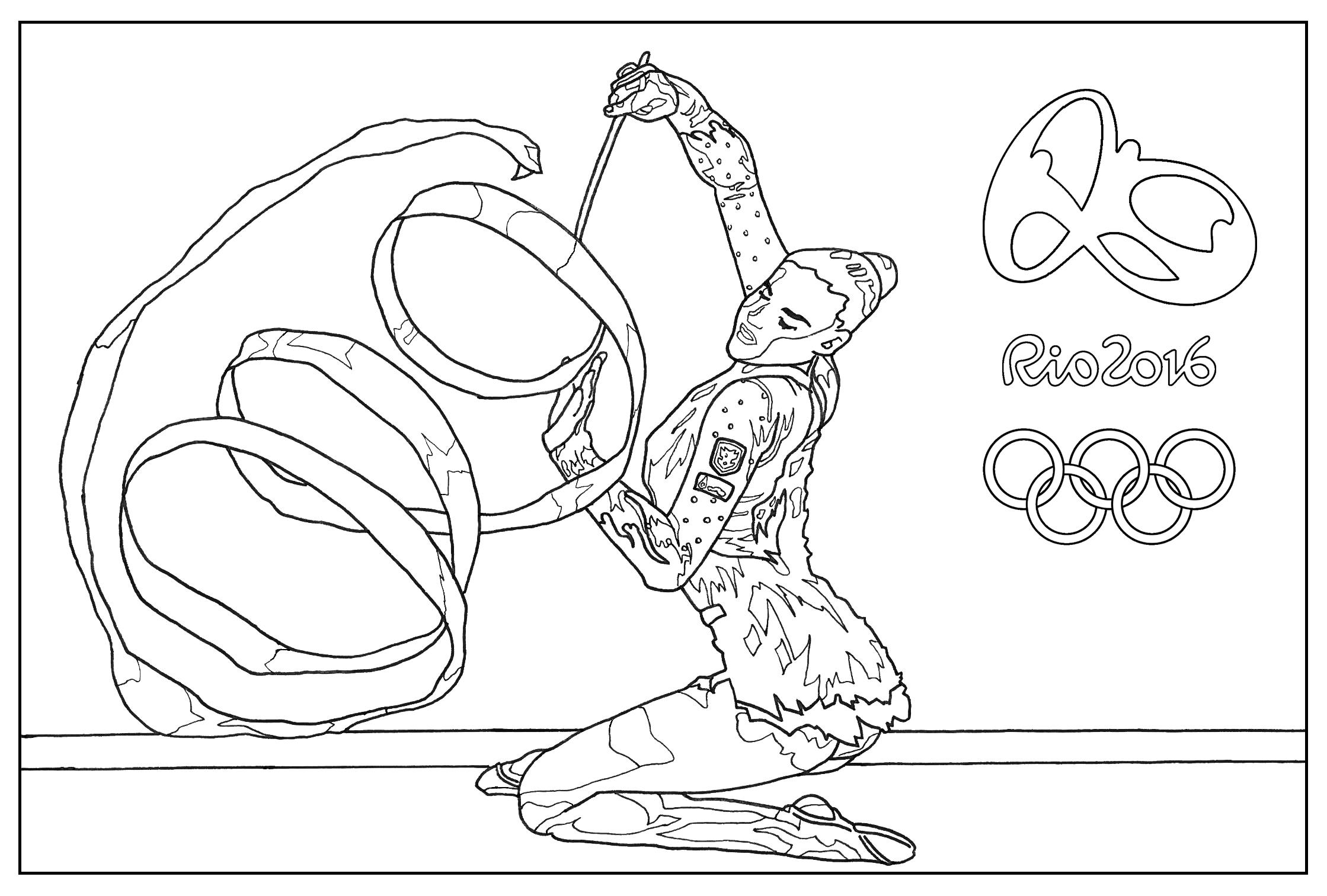 2239x1513 Coloring For Kids Sensational Pages Gymnastics Free Rythmic