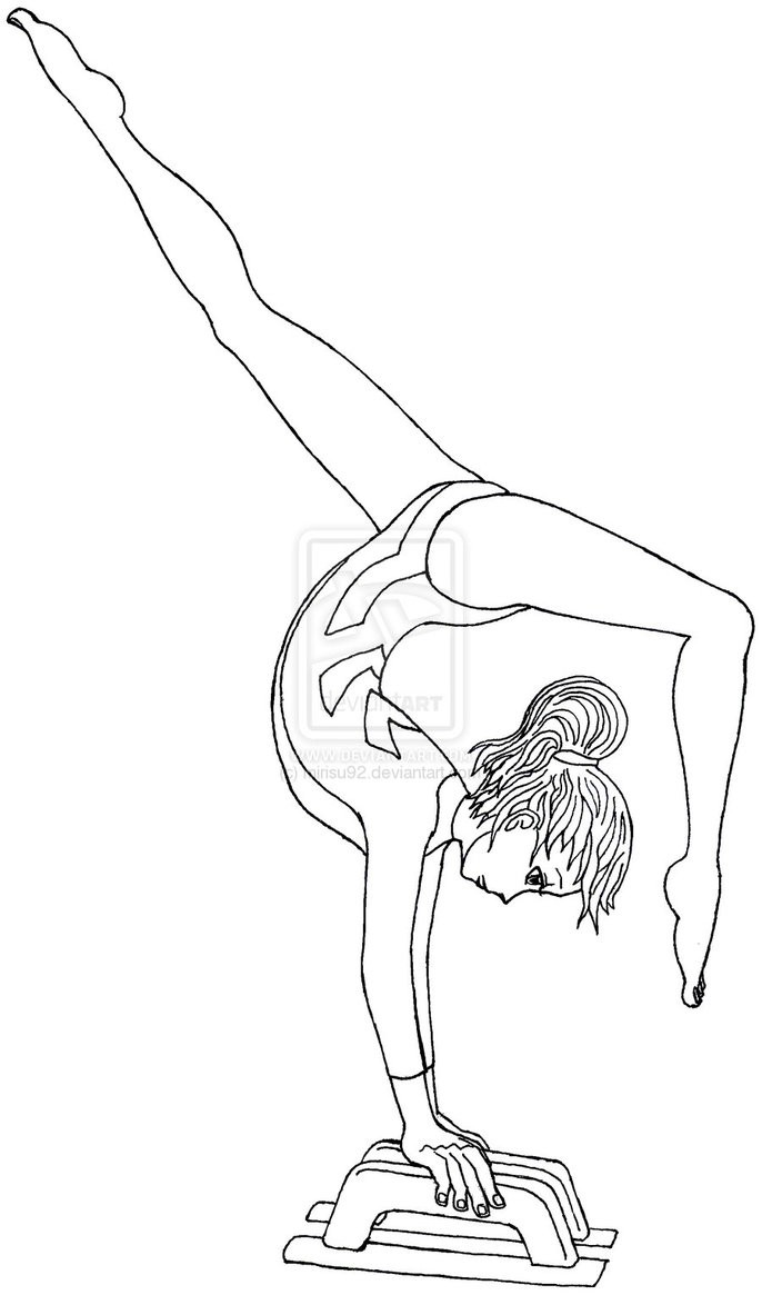 686x1165 Coloring Pages For Gymnastics Free New Gymnastics Coloring Pages