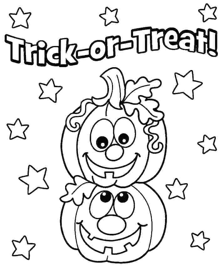 Halloween Coloring Pages - GetColoringPages.com | 854x706