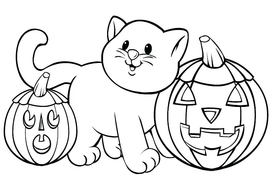 957x668 Free Halloween Coloring Pages To Print Cat Coloring Pages Free