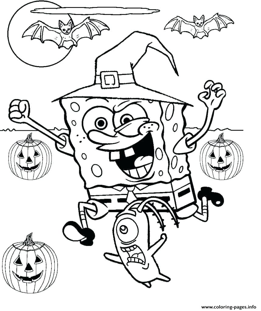 858x1020 Coloring Pages Free Halloween Coloring Pages To Print Cute
