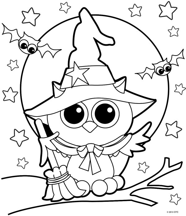 600x699 Halloween Coloring Pages For Kids Printable Free Free