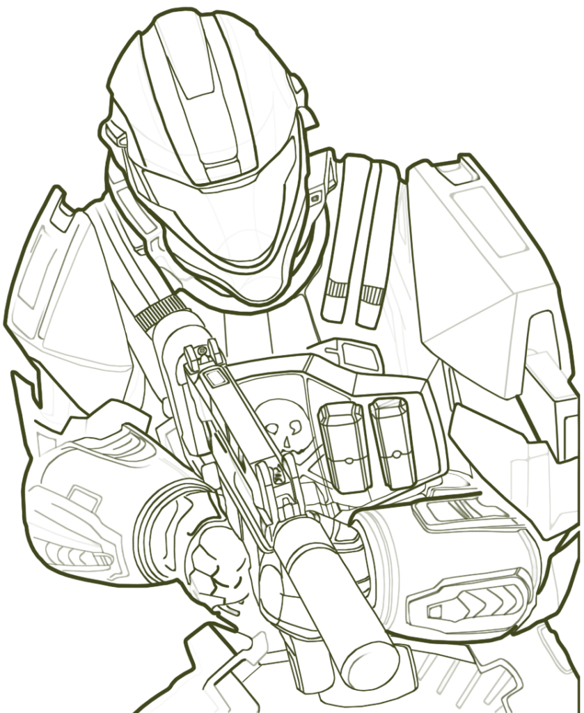 839x1024 Halo Coloring Page Get Bubbles