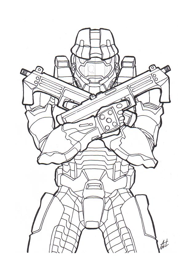 621x866 Halo Coloring Pages