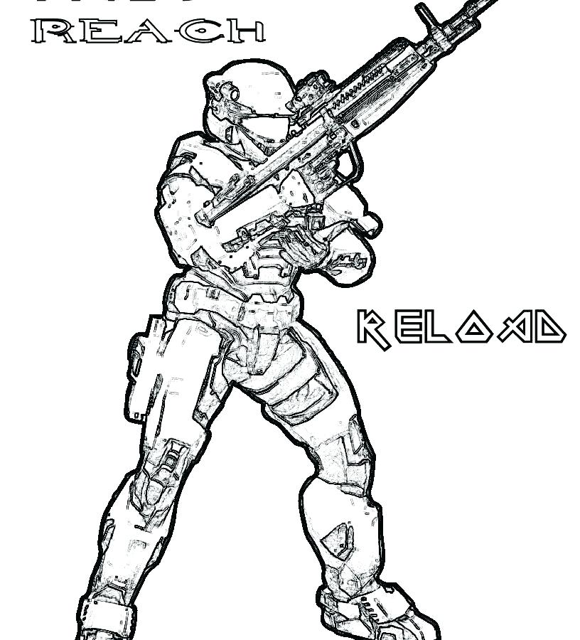 816x900 Halo Coloring Pages Halo Reach Spartan Coloring Pages
