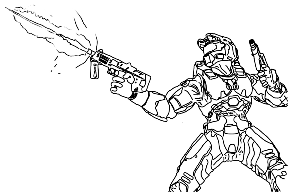 1150x746 Printable Halo Coloring Pages On Halo Coloring Pages On With Hd