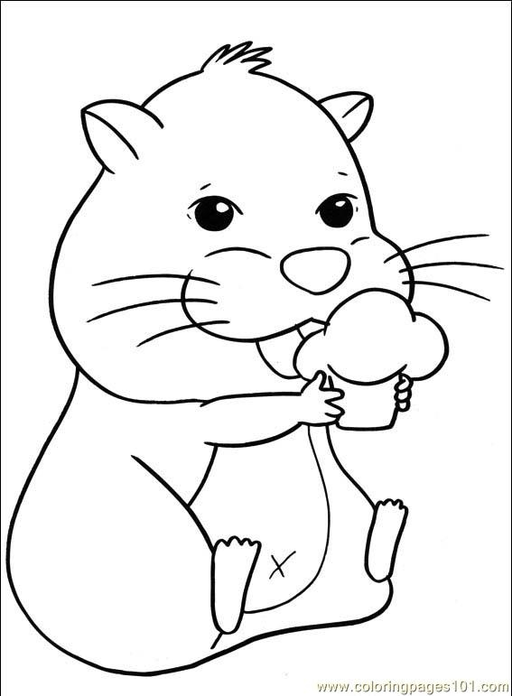 Free Hamster Coloring Pages