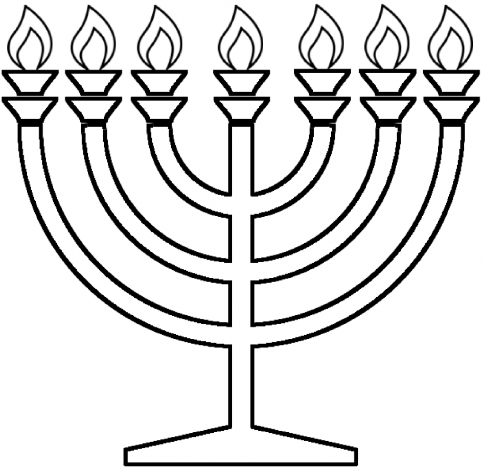 945x914 Hanukkah Coloring Pages