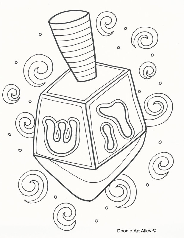 618x800 Hanukkah Coloring Pages