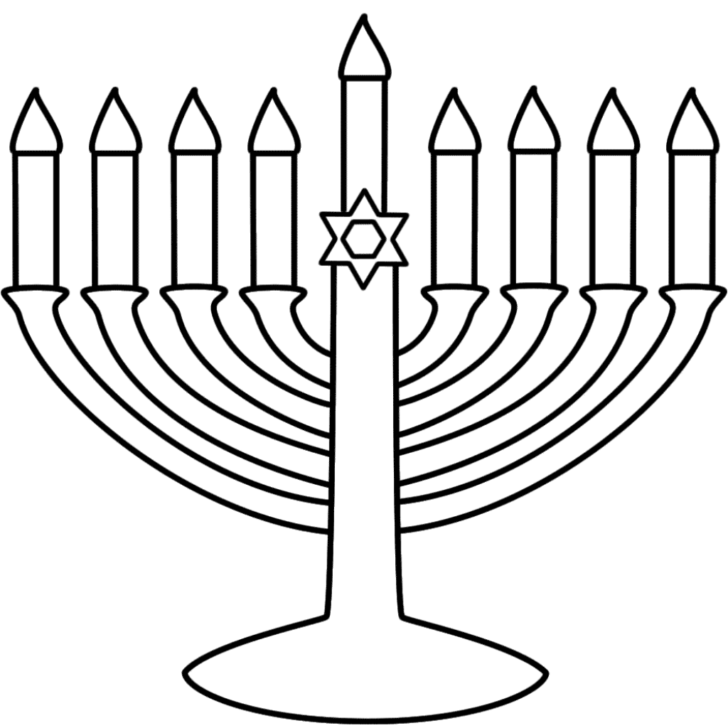 1024x1024 Adorable Chanukah Coloring Pages Preschool To Fancy Celebrating